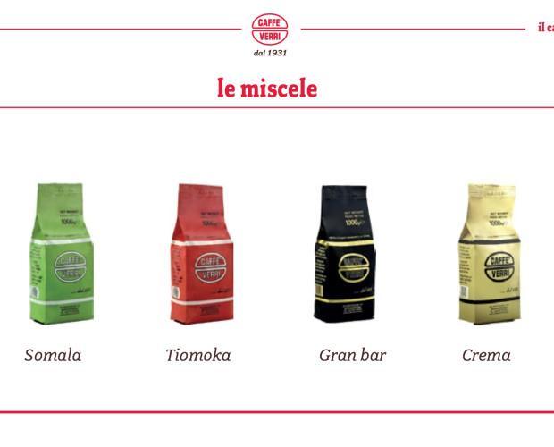 Miscele Caffè Verri. Le nostre 4 principali miscele.