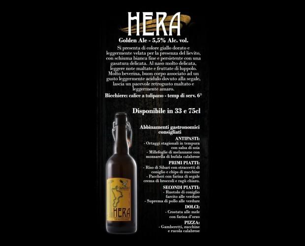 Hera - Golden Ale. Birra artigianale