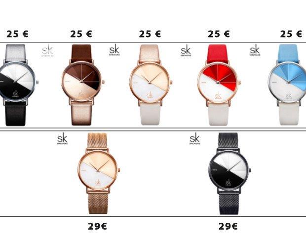 Orologi con prezzi.