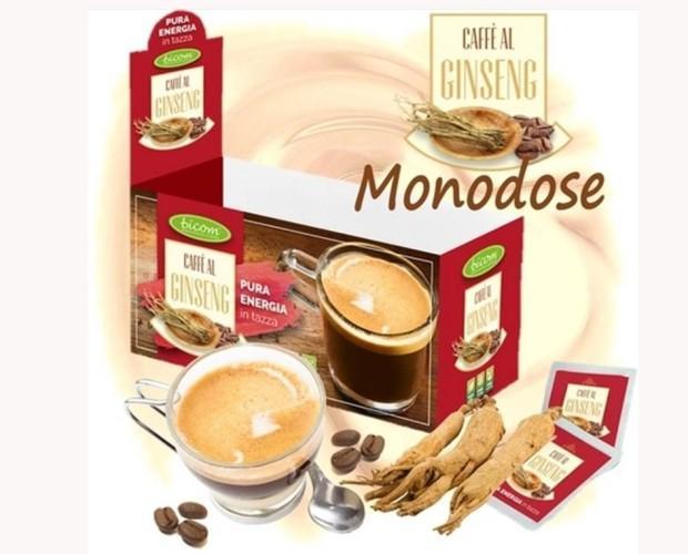 Caffè al Ginseng monodose. BOX espositore da banco con 25 bustine da 18 gr