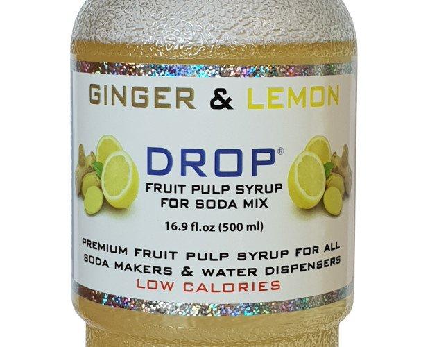 Ginger and Lemon. Polpa di frutta concentrata naturale, basta aggiungere acqua ed è subito pronta. Limone di Sorrento e Ginger.