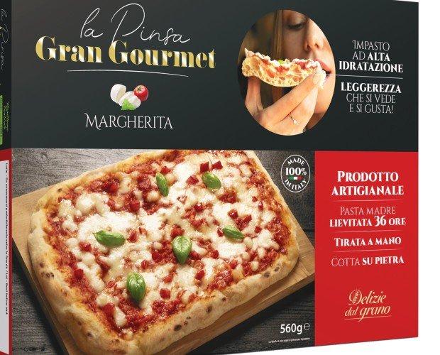Pinsa Margherita Gran gourmet. Il top della qualità da cuocere direttamente nel forno di casa.