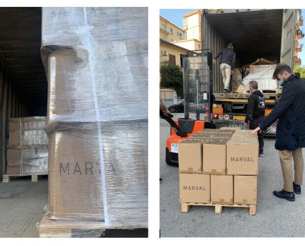 MARVAL IMPORTAZIONE RICAMBI. Consegna container 20 piedi presso magazzino cliente