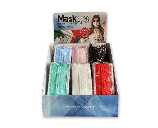 Mascherine in Tessuto.Il nostro dispositivo è composto da 3 strati di tessuto TNT e Meltblown filtrante