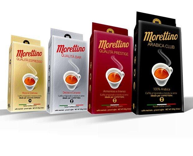 Caffè Macinato.Le miscele Morettino Classic, in confezione sottovuoto da 250g.