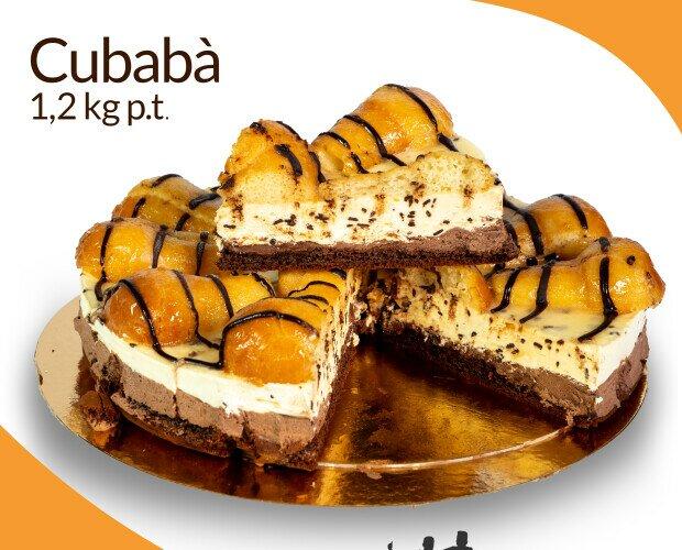 Cubaba'. Pan di Spagna al cioccolato con panna e baba' bagnati al rum