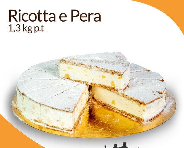 Ricotta e pera. Impasto di ricotta di Bufala al 60% con pezzetti di pera racchiuso in due biscotti