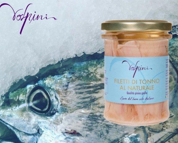 Conserve di Pesce.Filetti di tonno al naturale da 200 gr.