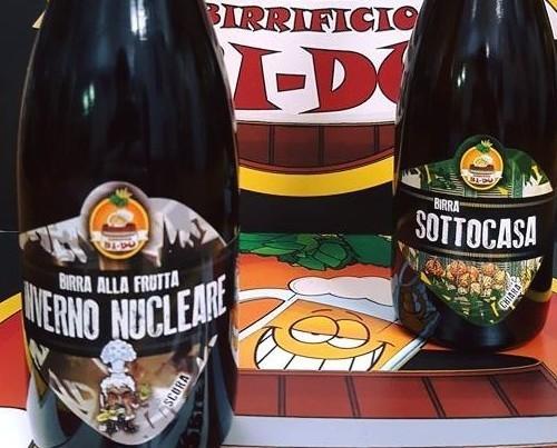 Bottiglie di Birra con alcol.Inverno Nucleare