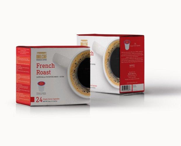 French Roast, box 24. Caffè Americano qualità French Roast, box 24 capsule compatibili Keurig K-cups 2.0