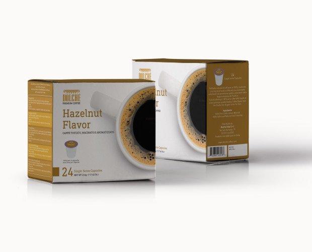 Hazelnut, box 24. Caffè Americano qualità Hazelnut, box 24 capsule compatibili Keurig K-cups 2.0