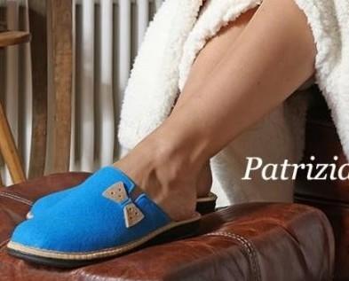 Pantofole da donna. Calzature comode e confortevoli.