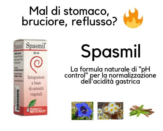 Spasmil fitogocce. Spasmil gocce per lo stomaco, regola il pH acido