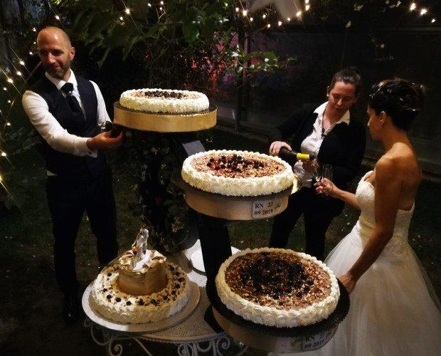 Torta Matrimonio. Torta gelato matrimonio, struttura personalizzata appositamente per cliente
