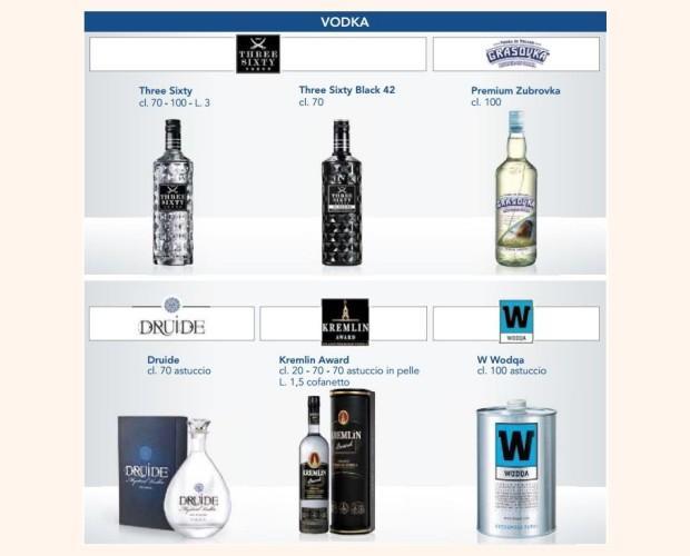 Liquori. Vodka. Assortimento di Vodka marchi esclusivi