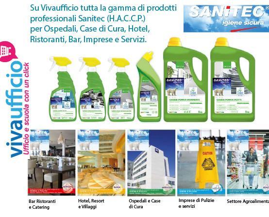 Attrezzatura per la Pulizia industriale.Vendita prodotti professionali Sanitec (H.A.C.C.P) per Hotel, Case di Cura, Ristoranti, Bar ecc..