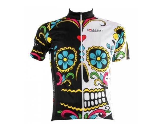 Maglia tecnica Bike. Maglia manica corta Mexican Skull