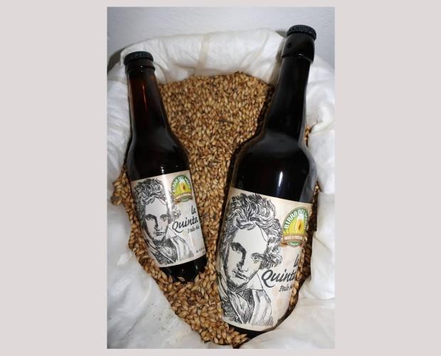 Bottiglie di Birra con alcol.Birra artigianale