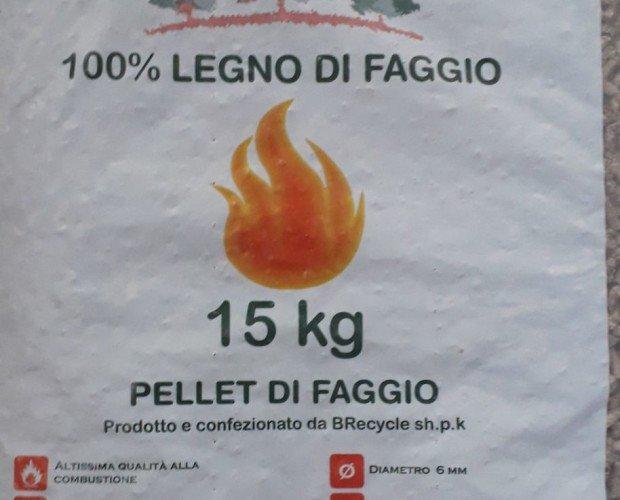 Camini e Stufe.pellet di faggio 100% per bilico ton 2880024 pallet da 80 sacchi