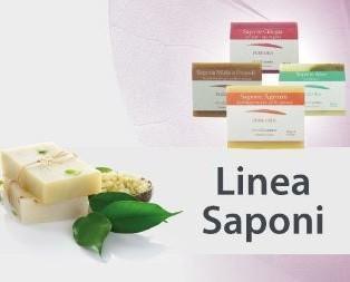 Linea saponi. Prodotti con estratti naturali delle piante
