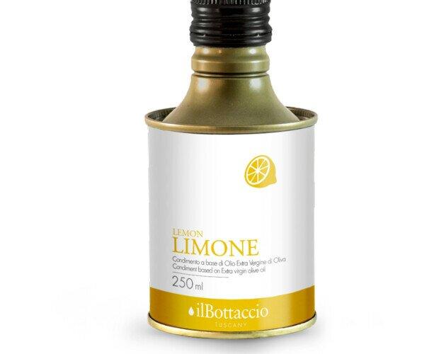 Olio EVO infuso al limone. Olio extravergine di oliva di alta qualità infuso al limone.
