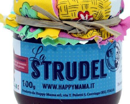 La Strudel di happy Mama. Confettura di mela, cannella, pinoli e uvetta sultanina, zucchero.