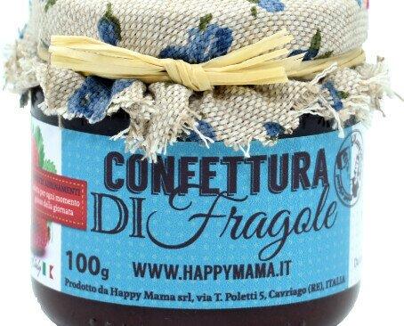 Confettura di fragole Happpymama. Confettura di fragole ideale per colazione e per la preparazione di dolci