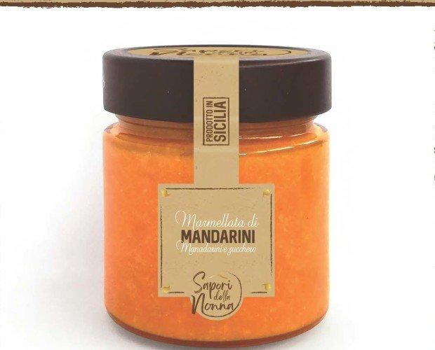 Marmellata. Marmellata di mandarini. Varietà utilizzata per la produzione è il marzaiolo.