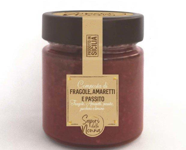 composta. Composta di Fragole, Amaretti e Passito di Pantelleria.