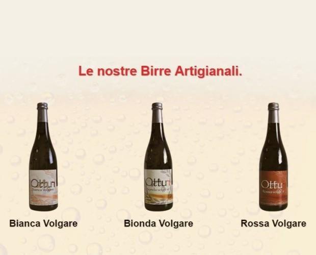 Birra. Bottiglie di Birra con alcol. Tre stili per tre gusti.