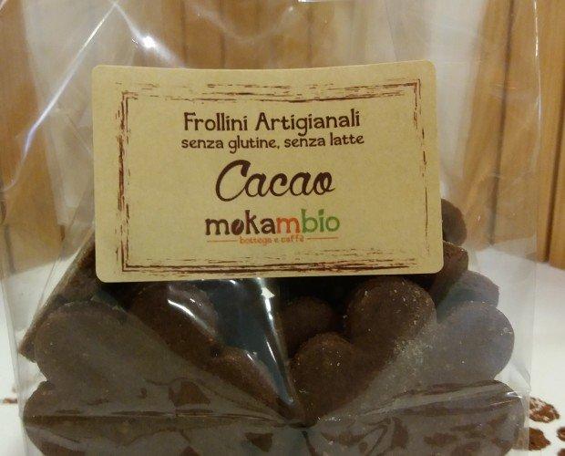 FROLLINI CACAO. frollini artigianali senza glutine, senza latte con cacao amaro.