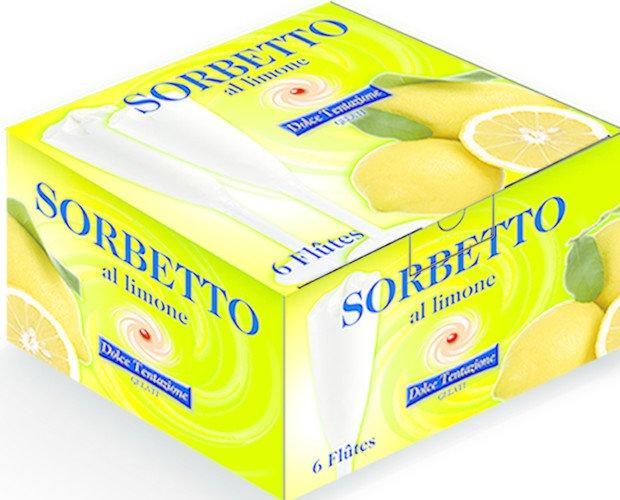 Flute cartone 6 pz. flute sorbetto limone