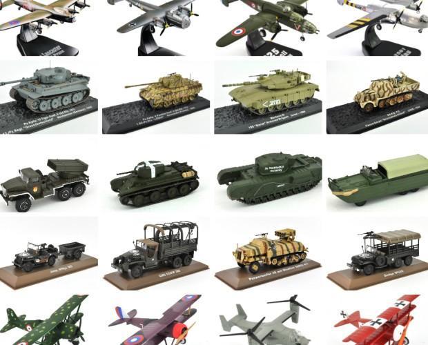 Modellini militari. Differenti modelli, vasto assortimento