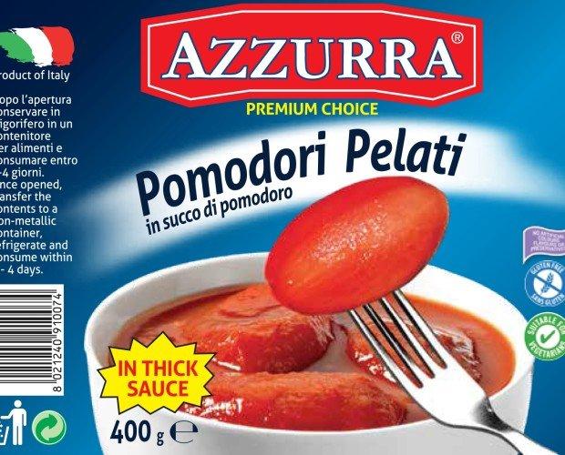 Canned Peeled Tomato. Italian Peeled Tomatoes - Pomodori Pelati Italiani
