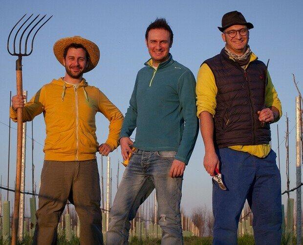 Il Team. Da sinistra a destra: Alessandro, Davide e Luca.
