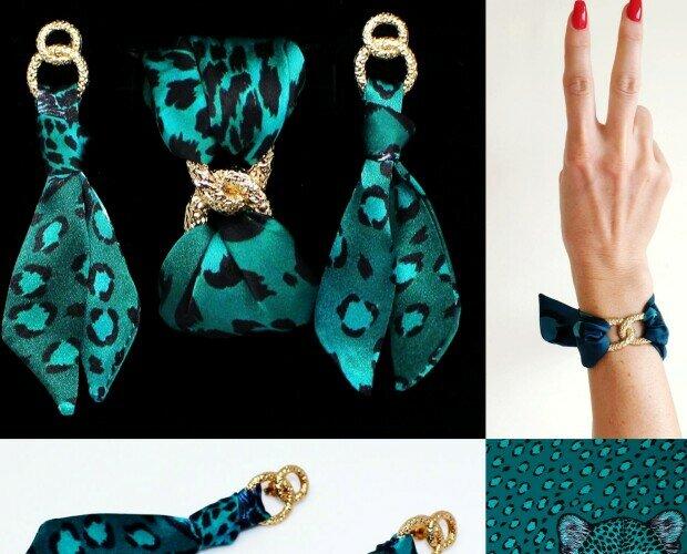 Orecchini e bracciale. Accessori in seta dal design unico fatti a mano di alta qualità. www.helenbellart.com