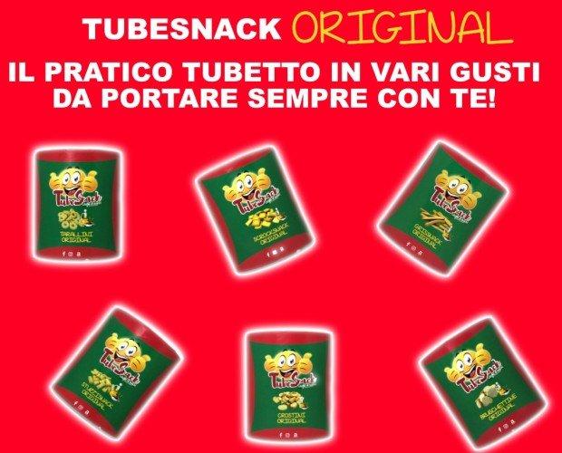 Tubetti Snack. Tubetti di Snack da Forno, dai Tarallini fino ai Minigrissini, assortiti in diversi gusti.