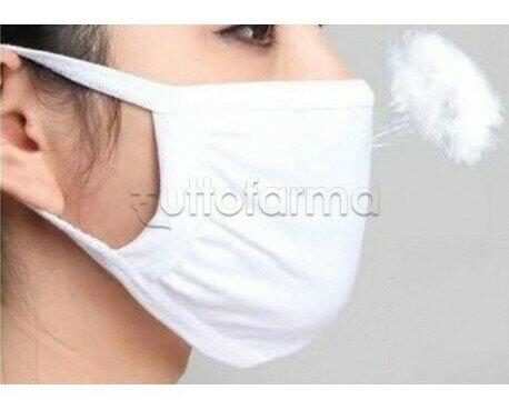 Mascherina lavabile. Mascherina a Fascia protettiva facciale a doppio lavabile
