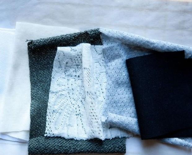 Fibre tessili.Varie qualità di crochet e jersey.