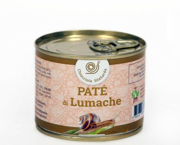 Patè di Lumaca. Prodotto artigianale raffinato (4porzioni) Lattina gr 200