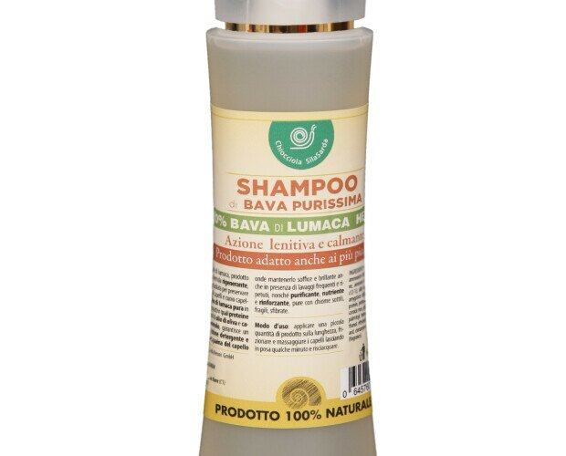 Shampoo Lenitivo 20% di Bava. Coadiuvante nel trattamento di irritazioni dermatiti e piccoli danni da psoriasi.