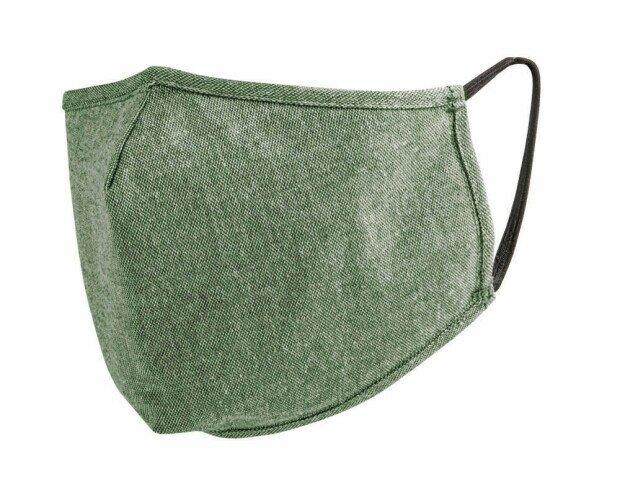 Mascherine in Tessuto.Mascherina lavabile a 3 strati: cotone riciclato + TNT filtrante + cotone.