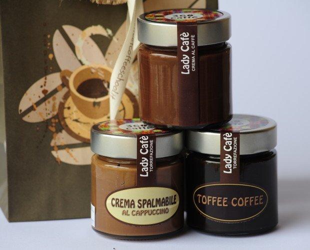 CREME SPALMABILI 360° CAFFE'. Una linea di prodotti al caffè e non solo. Da mangiare, spalmare, sgranocchiare