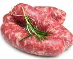 Carne. Salsicce. Salsicce fresche napoletane a punta di coltello