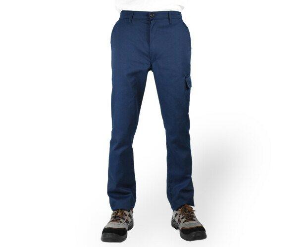 Pantalone da lavoro. Pantalone da lavoro con due tasche anteriori, tascone sulla gamba e tasca posteriore