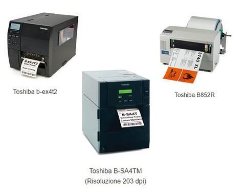 Toshiba. Stampa termica (disponibili in differenti modelli)