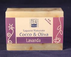 Sapone Naturale. All'olio d'oliva e cocco, con lavanda.