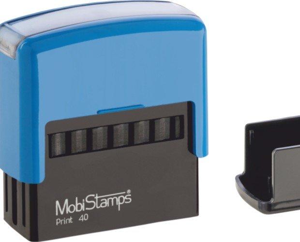 mobistamps-C40. Timbro autoinchiostrante Mobi40 con la cover