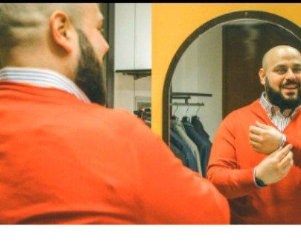 Sotto giacca uomo. Maglione manica lunga scollo a V misto lana