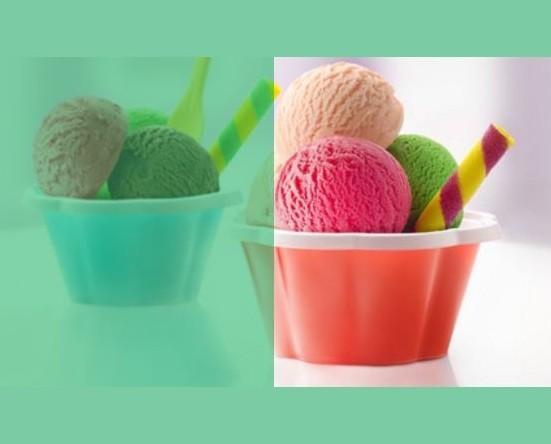 Basi per il gelato. Con attrezzature personalizzabile.
